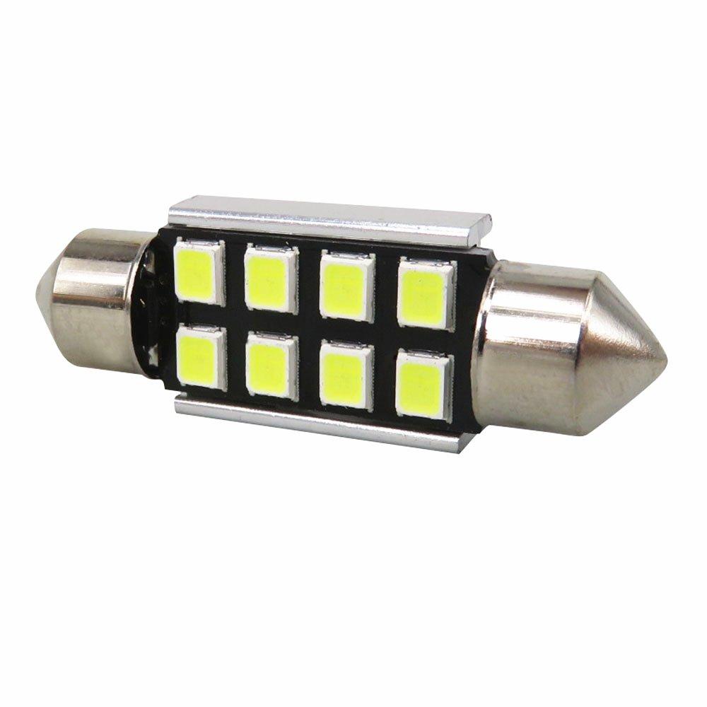 WLJH Super Bright 2835 Chipset Canbus Error Gratis Bombilla de LED de 31 mm para el interior del autom/óvil Luces de cortes/ía de la placa del techo de la matr/ícula 3021 3022 3175 6000K Blanco