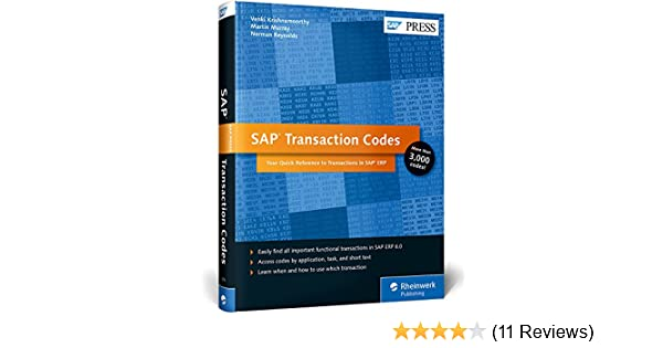 Amazon com: SAP Transaction Codes: Your Quick Reference to