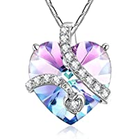 iSuri Love heart Pendant Necklace w/ Swarovski Crystals