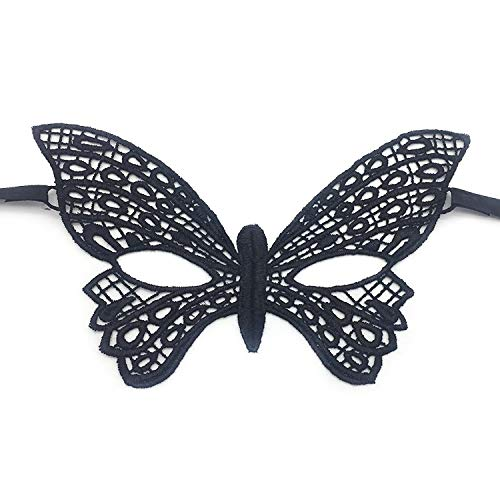 Kercisbeauty Black Lace Masquerade Mask for Women,Halloween Party Costume Ball,Theme Dancing Prom (Another Butterfly) for $<!--$6.66-->