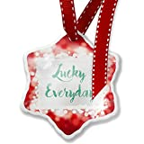 Christmas Ornament Lucky Everyday St. Patrick's Day Green Watercolor, red - Neonblond