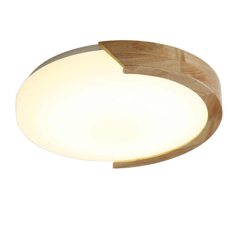 Lampada da soffitto in legno massello moderno e moderno in legno massello semplice da studio in acrilico. Luce bianca Luci antler