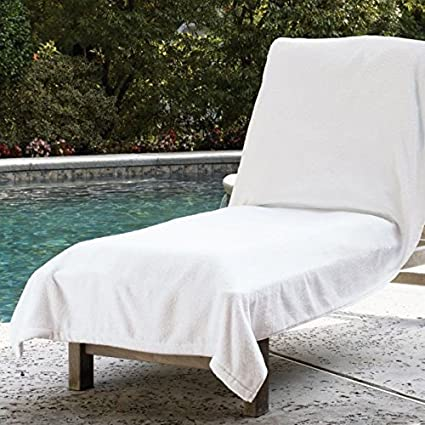 Sferra Santino Terry Towel Lounge Chair Cover