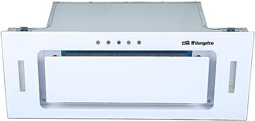 Orbegozo CA 09160 BL - Campana extractora cassette 60cm, Clase A, frontal cristal templado blanco, extracción 589,4 m3/h, 3 niveles de potencia, iluminación LED: Amazon.es: Hogar