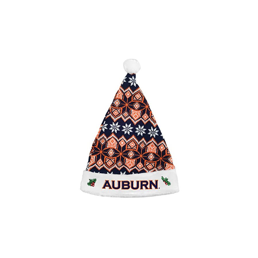 Forever Collectibles Auburn Tigers Knit Santa Hat 2015