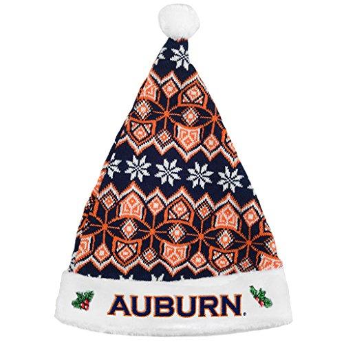 Forever Collectibles Auburn Tigers Knit Santa Hat - 2015 Auburn Santa