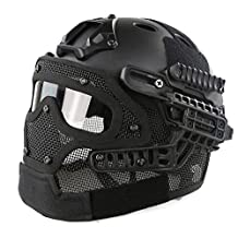 Myheartgoon NEW development Tactical Fast Helmet with Tactical Mask with Goggle for Airsoft Paintball