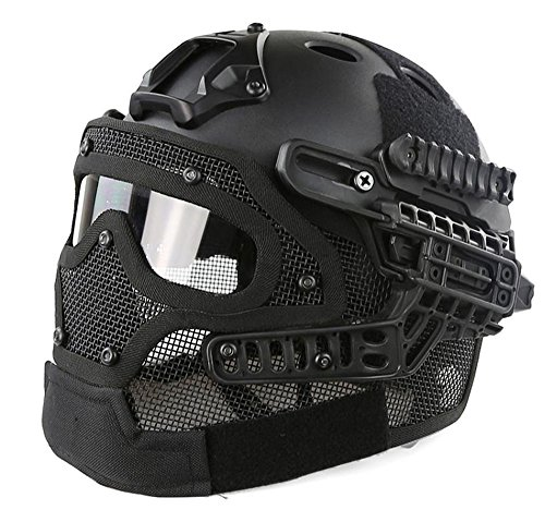 Myheartgoon NEW development Tactical Fast Helmet with Tactical Mask with Goggle for Airsoft Paintball (Tactical Airsoft Helmet)
