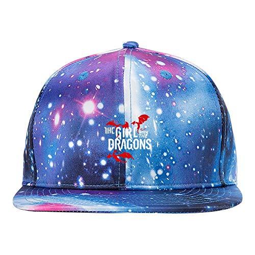 BFBJFG Unisex The Kittens Have The Phone Box Galaxy Hat Adjustable Baseball Cap Snapback Hats Blue ()