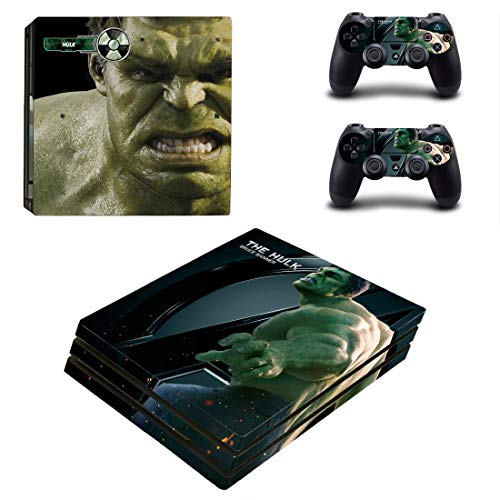 Adventure Games – PS4 PRO – Hulk, Avenger – Playstation 4 Vinyl Console Skin Decal Sticker + 2 Controller Skins Set
