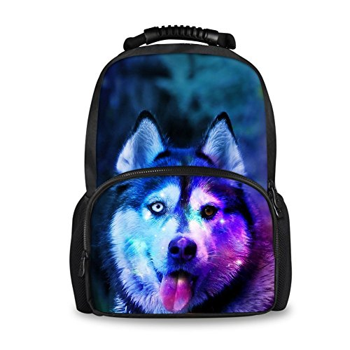 Head with Tiger Husky Fashion Backpack Animal Softback Showudesigns Bags School RTtnZ0x