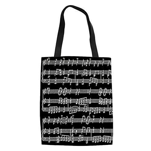 reutilizable Music Music lino de compra de 11 la para 14 mujer Bolso Showudesigns CA8qxwPBB