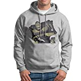 Bekey Men's The Iron Giant Signature Pullover Hoodie Jersey S Ash