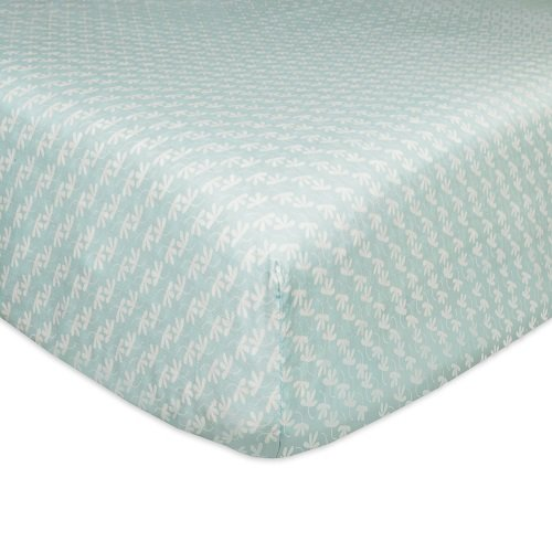 - Babyletto Fitted Crib Sheet, Fleeting Flora