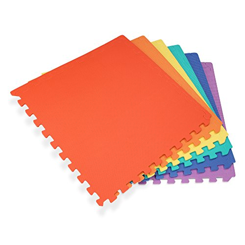 We Sell Mats 24'' x 24'' x 3/8'' 144 Sq Ft Multi-Color Interlocking Foam Mat by We Sell Mats