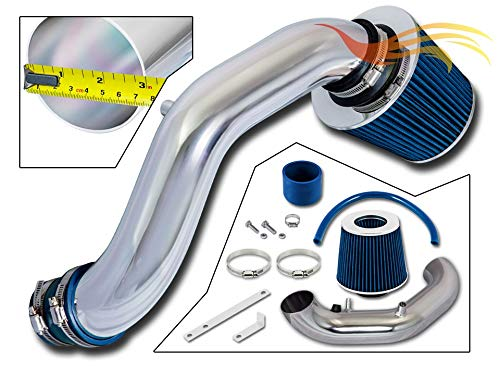 RSG Racing Short Ram Air Intake Kit BLUE Compatible For 02-06 Acura RSX Base ONLY (non Type-S) L4 2.0 Engine