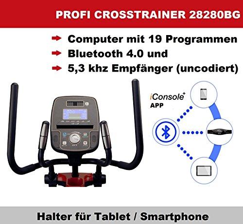 Body Coach - Entrenador elíptico profesional, con tracción delantera, bicicleta elíptica 28280BG, con Bluetooth + aplicación de entrenamiento, ...