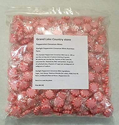 Starlight Peppermint Cinnamon Mints Discs 5 Lbs Bulk Hard Candy Approx. 425 Pieces