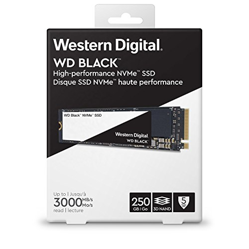 WD Black 250GB High-Performance NVMe PCIe Gen3 8 Gb/s M.2 2280 SSD - WDS250G2X0C by Western Digital (Image #4)