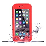 iPhone 6S Waterproof Case, OFTEN iPhone 6/6S 4.7 INCH Waterproof Case Clear Screen Protector Shock Absorbing Heavy Duty Hard Back Stand Cover (Red)