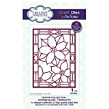 Creative Expressions Craft Die CED3090 Sue Wilson Festive Collection - Stained Glass - Poinsettia