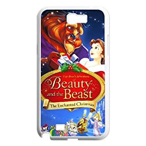 Samsung Galaxy Note 2 N7100 Phone Case White Beauty and the Beast The Enchanted Christmas CXF349928