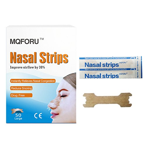 MQFORU 50-Count Better Breath Nasal Strips Anti-Snoring Snore Reducing Aids (Anti Snoring Nasal Strips)
