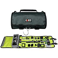 Rollup Electronics Accessories Travel Gear Organizer Case,Protective Case for GoPro Hero 4/3+/3 sj4000, Mounts, Pole, Batteries, Remotes and More Accessories