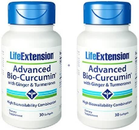 Life Extension Advanced Bio-Curcumin with Ginger and Tumerones Softgels, 30 X 2