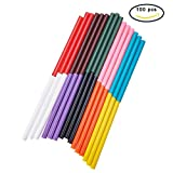 PH PandaHall 100PCS 10-Color Hot Gule Stick 7 x 100mm Hot Melt Adhesive Glue Gun Sticks Mini Glue Sticks for DIY Art Craft