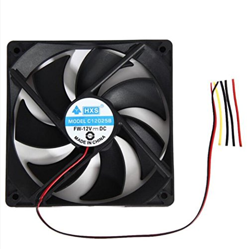 Price comparison product image Cooling Fan For PC , Heat Sink , ONEMORES 12V 4 Pin 120mm Computer Cooler (Black)