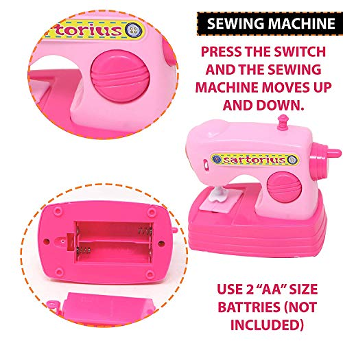 urban festivities battery operated 6 pieces household home appliances play set toys for girls with realistic sound - fan,hair dryer,vacuum cleaner,sewing machine,iron,washing machine-Pink 514OjrqkYEL India 2021