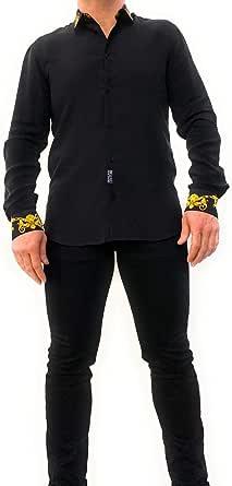 Versace Jeans Couture Men Shirt Baroque Nero