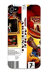 New Style Tpu 4/4s Protective Case Cover/ Iphone Case - Looney Toon Acme Arsenal Jaquette Wii