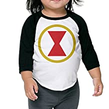 Baby Black Widow Comic Logo 3/4 Sleeve Plain Raglan Tee Shirt Baseball Funny Tops