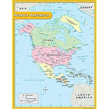 Teacher created resources north america map chart multi color 7655