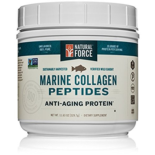 Marine Collagen Peptides, *Vital Fish Collagen for Joints and Anti-Aging* - Best Type I Hydrolyzed Collagen Protein Powder, Sourced from Wild Caught Red Snapper by Natural Force, 11.63 Ounce