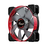 Rosewill Computer Case Fan 120mm with Red LED and PWM Function (RWCR-1612)