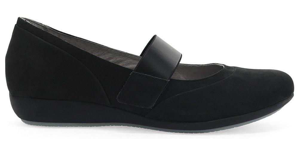Dansko Women's, Kendra Low Heel Wedge Shoes B078J3P6MB 37 M EU Black Milled Nubuck