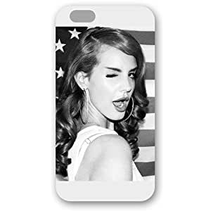 UniqueBox - Customized Personalized White Frosted iPhone 6 4.7 Case, American Famous Singer Lana Del Rey iPhone 6 case, Only fit iPhone 6(4.7 Inch)