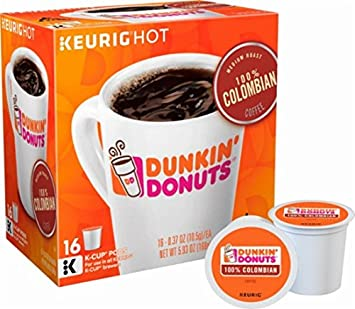 32 Count Dunkin Donuts Colombian Coffee KCups For Keurig K Cup