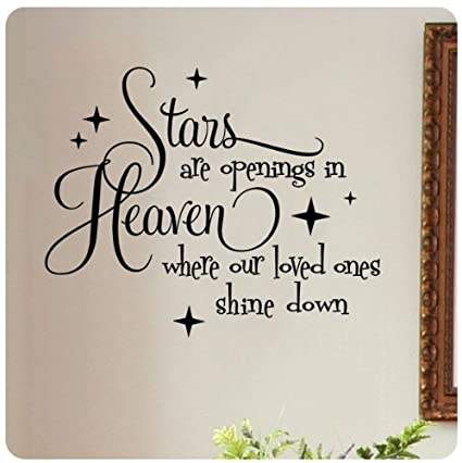 Stars Are Openings In Heaven Where Our Loved Ones Shine Down Wall