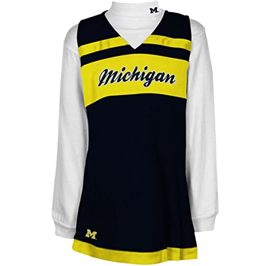 Amazon.com  NCAA Michigan Wolverines Toddler Cheer Jumper Dress with Tank   Sports   Outdoors a96e390e5