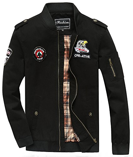 hombre Chaqueta chaqueta negro para YYZYY tROwqf1xt