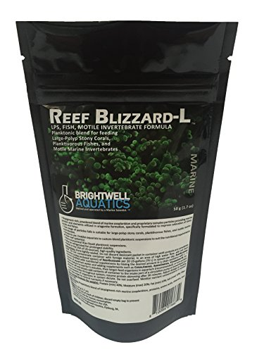 Reef Zooplankton Coral - Brightwell Aquatics Reef Blizzard-L Powdered Planktonic Food Blend for LPS Corals, 50g
