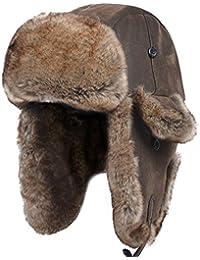 Unisex Winter Knit Russian Ushanka cossack Trapper Pilot Aviator Cap Hat