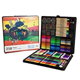 BoTen Watercolor Pen Crayon Color Pencils Painting portfolio Set (258 Color)