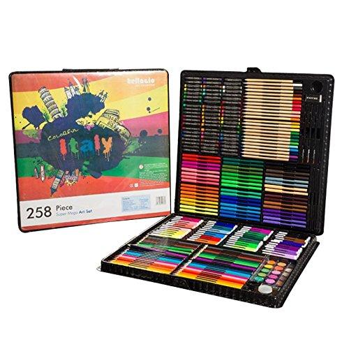 BoTen Watercolor Pen Crayon Color Pencils Painting portfolio Set (258 Color) by BoTen