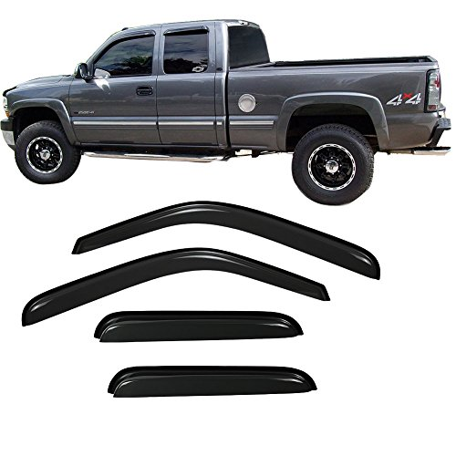 - YOUKOO Fit 1999-2006 Silverado/Sierra 1500 2500 3500/2500 HD Extended Cab Vent Shade Window Visors|2007 Chevy Classic Body Extended Cab Sun/Rain Guard Shields Wind Deflectors