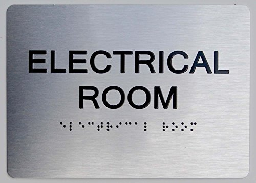 Electrical Room ADA Sign -(Aluminium, Brush Silver,Size 5X7) The Sensation line